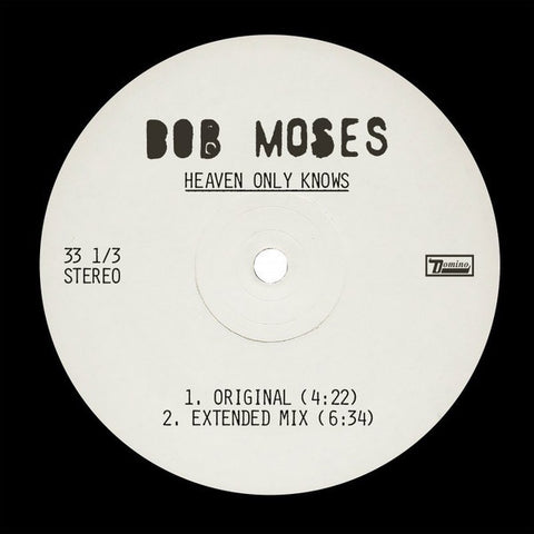 "Bob Moses – Heaven Only Knows - New 12"" Vinyl 2018 Domino Limited Edition Pressing - Electronic / Deep House / Tech House"