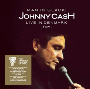 Johnny Cash - Man In Black: Live in Denmark 1971 - New Vinyl Record 2015 Record Store Day Black Friday Limited Edition 2-LP Red/White Vinyl, 4400 Copies Made