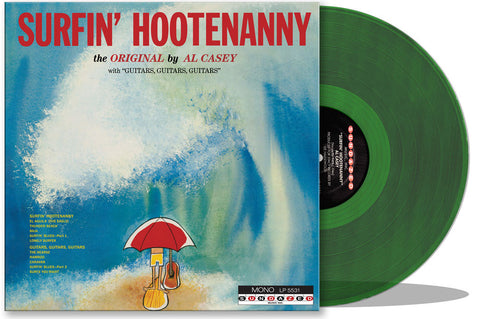 Al Casey - Surfin' Hootenanny - New Lp 2016 USA Record Store Day Blue Lagoon Green Vinyl - Surf Rock