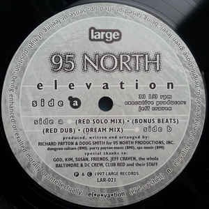 "95 North - Elevation - VG+ 12"" Single 1997 Large Records USA - Chicago House"