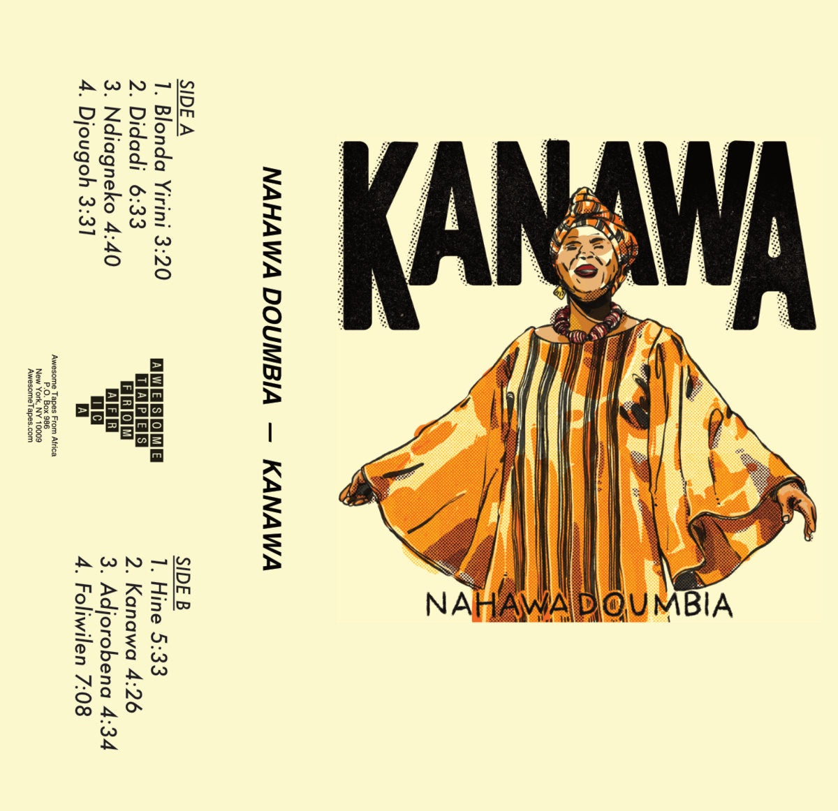 Nahawa Doumbia - Kanawa - New Cassette 2021 Awesome Tapes From Africa Tape - African Folk