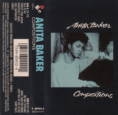 Anita Baker ‎– Compositions - Used Cassette 1990 Elektra - Jazz / Rhythm & Blues