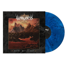 Wormwitch - Strike Mortal Soil - New Vinyl 2017 Prosthetic Limited Edition 'Lightning Bolt Blue with Black Specks' Vinyl - Metal / D-Beat / Crust Punk