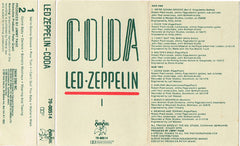 Led Zeppelin - Coda VG+ - 1982 Swan Song USA Cassette - Rock