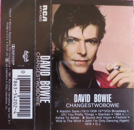 David Bowie ‎– ChangesTwoBowie - Used Cassette 1981 RCA Records - Rock /  New Wave