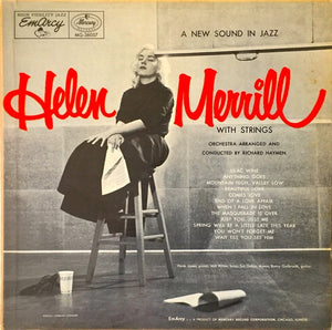 Helen Merrill ‎– With Strings - VG- Lp Record 1955 USA Original Vinyl - Jazz / Cool Jazz / Vocal
