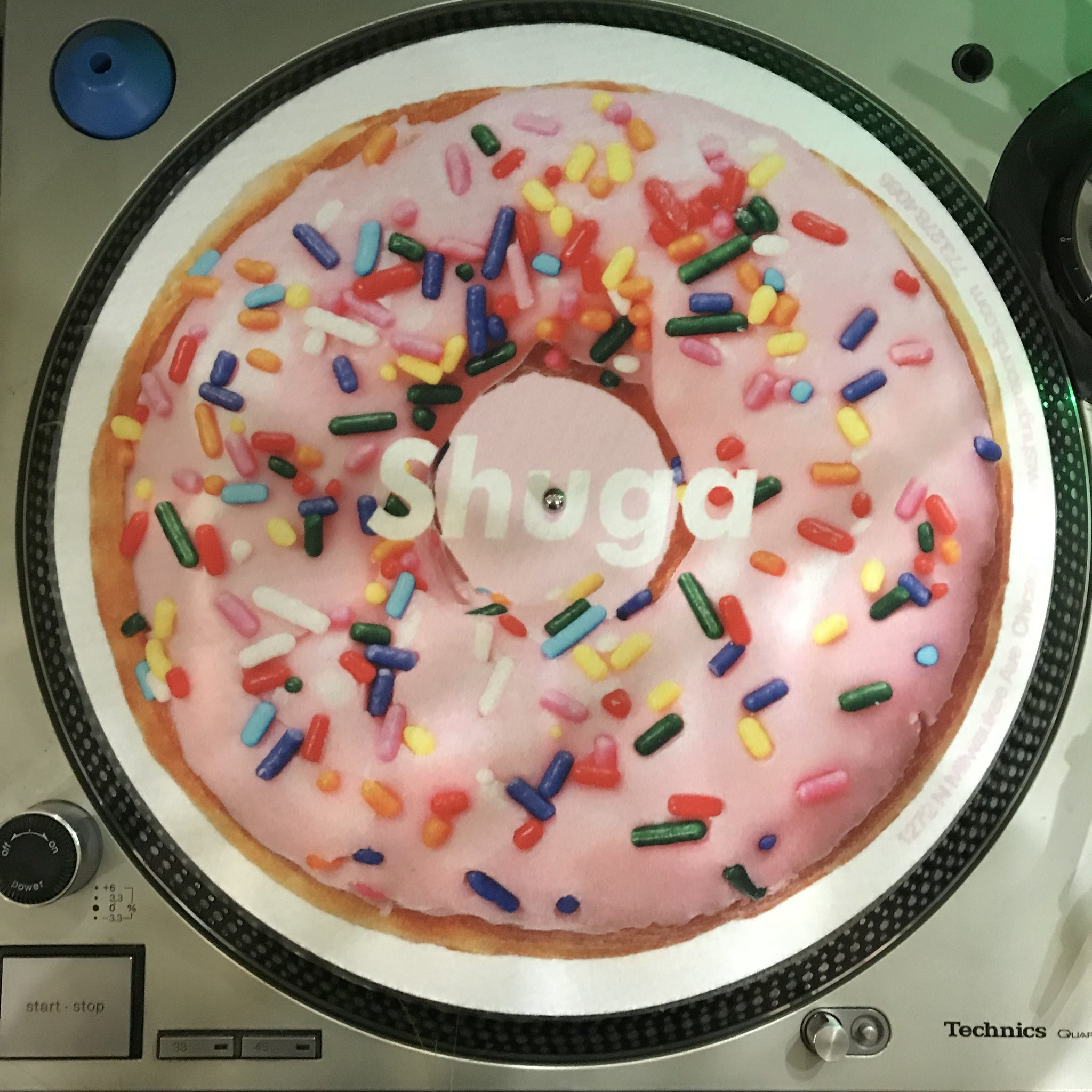 Shuga Records 2018 Limited Edition Vinyl Record Slipmat Pink Donut