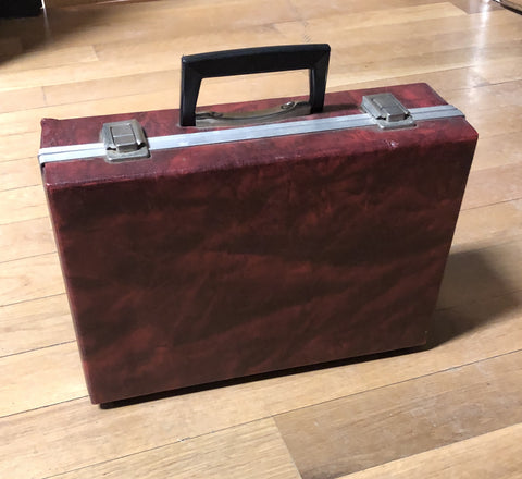 Vintage Cassette Carrying Case - Red