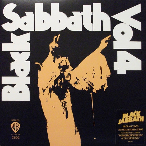 Black Sabbath ‎– Vol 4 (1972) - New Vinyl 2016 Warner 180Gram Reissue (from the 2009 Remaster) with 4-Page Booklet and Gatefold Jacket - Metal / Proto-Doom / Praise Iommi