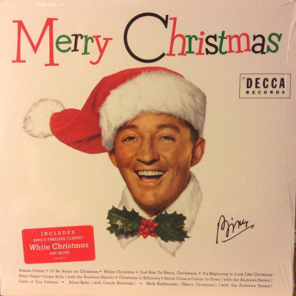 Bing Crosby ‎– Merry Christmas (1955) - New Lp Record 2014 Decca USA Stereo Vinyl - Holiday / Jazz