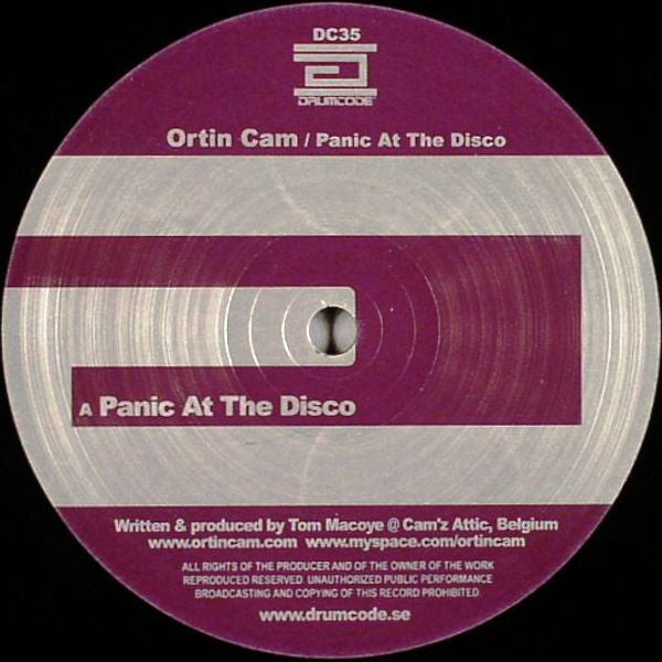 "Ortin Cam - Panic At The Disco - Mint- 12"" Single 2007 Sweden Import (Drumcode) - Techno"
