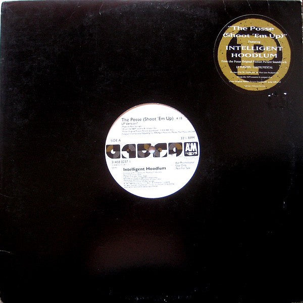 "Intelligent Hoodlum ‎- The Posse (Shoot 'Em Up) - VG 12"" Single Promo 1993 USA - Rap / Hip Hop"