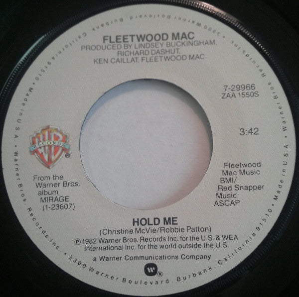 "Fleetwood Mac - Hold Me / Eyes Of The World VG+ - 7"" Single 45RPM 1982 Warner Bros. USA - Rock"