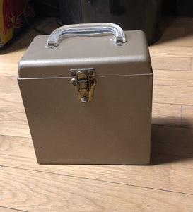 "7"" 45 Vintage Carrying Case - Gold"