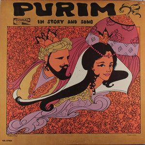 Rabbi Robert Schenkerman ‎– Purim In Story And Song - New Vinyl 1966 Stereo (Original Press) USA - Jewish/Story/Holiday