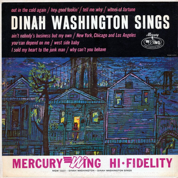 Dinah Washington ‎– Sings - VG+ Lp Record 1963 Mercury USA Mono Vinyl - Jazz Vocal