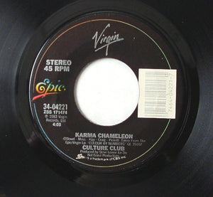 "Culture Club- Karma Chameleon / That's The Way (I'm Only Trying To Help You)- M- 7"" Single 45RPM- 1983 Epic USA- Electronic/Synth/Pop"