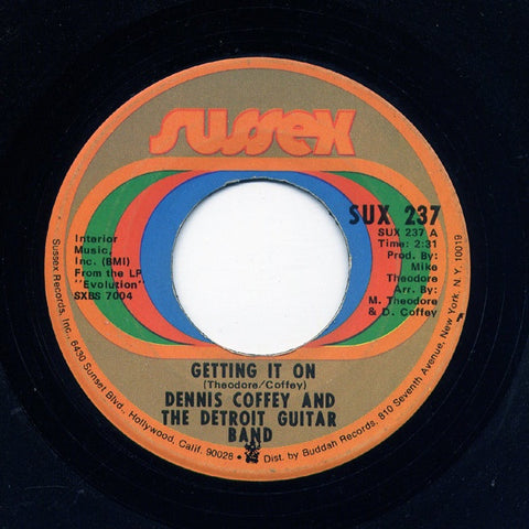 dennis coffey and the detroit guitar band getting it on ride sally ride vg 7 single 45rpm 1972 sussex usa funk soul