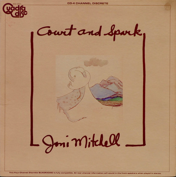 Joni Mitchell - Court And Spark - VG- (Low Grade) 1974 Stereo/Quadraphonic (Original Press) USA - Rock/Soft Rock