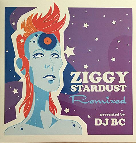David Bowie / DJ BC - Ziggy Stardust Remixed - New Vinyl Record 2015 Limited Edition Bootie Records Import on Clear Vinyl - Mashup / Remix -FU: Bowie