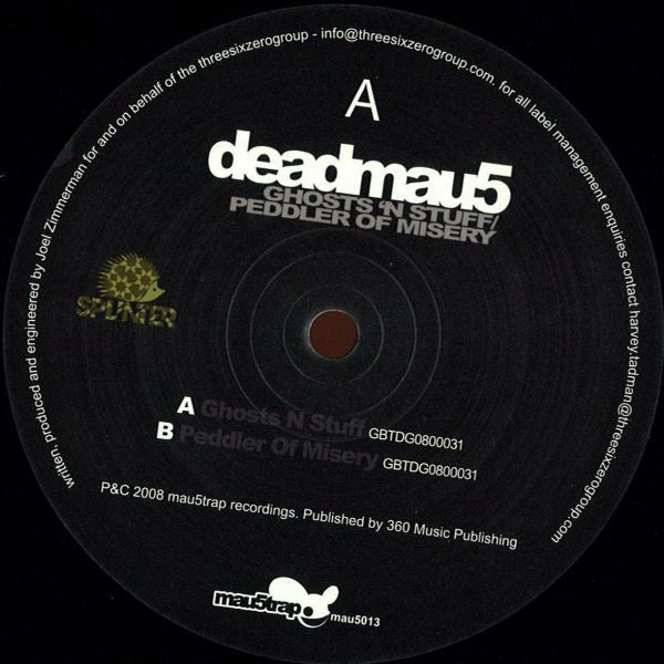 "Deadmau5 - Ghosts 'N Stuff / Peddler Of Misery - Mint- 12"" Single (UK Import) 2008 - House/Electro"