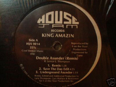 "King Amazin - Double Asunder (Remix) - VG 12"" Single USA 1990 (Original Press) - Chicago House"