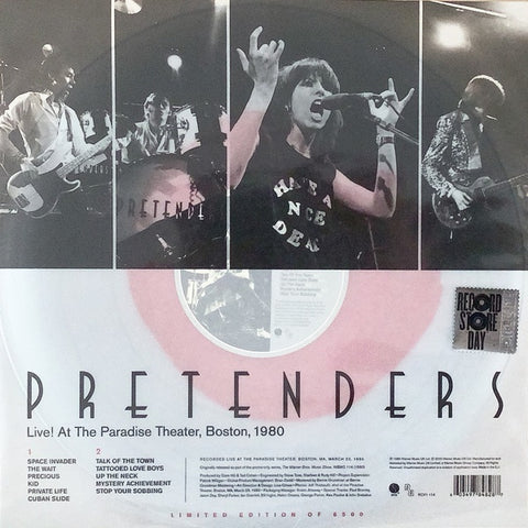 Pretenders ‎– Live! At The Paradise Theater, Boston, 1980 - New LP Record Store Day 2020 Sire Europe Import RSD Clear w/Red Blob Vinyl - New Wave / Alternative Rock
