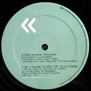 "Clementine / Air Liquide ‎– Tracker / Clash Of Cultures - Mint 12"" Single UK Import 2000 - Techno / Acid"