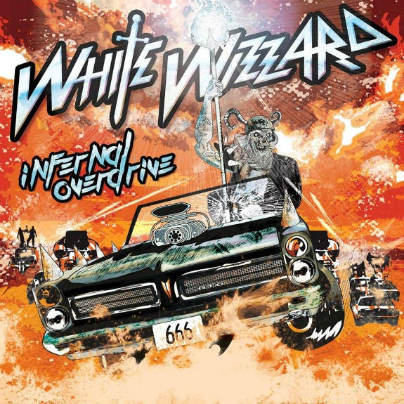White Wizzard ‎– Infernal Overdrive - New Vinyl 2018 M-Theory Audio  2LP Pressing on Orange/Black Vinyl with Gatefold Jacket and Download (Limited to 400!) - Metal