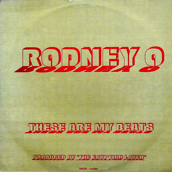 "Rodney O - These Are My Beats - VG+ 12"" Single USA 1986 Original Press - Electro"
