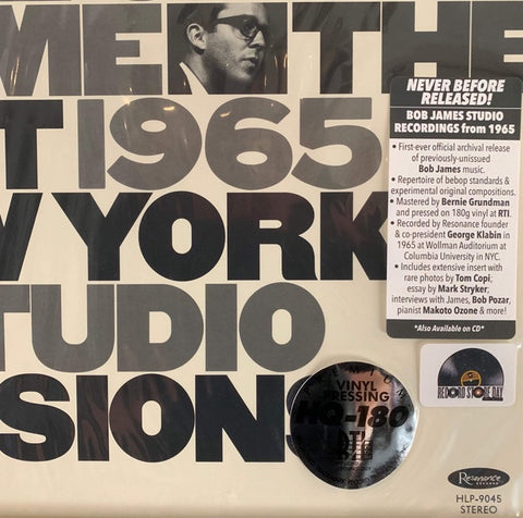 Bob James ‎– Once Upon A Time: The Lost 1965 New York Studio Sessions - New LP Record Store Day 2020  Resonance 180 Gram Numbered Vinyl - Jazz