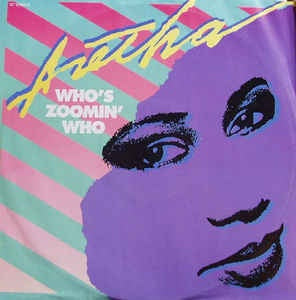 "Aretha Franklin - Who's Zoomin' Who - M- 12"" Single 1985 Arista USA - Electronic / Synth-Pop"