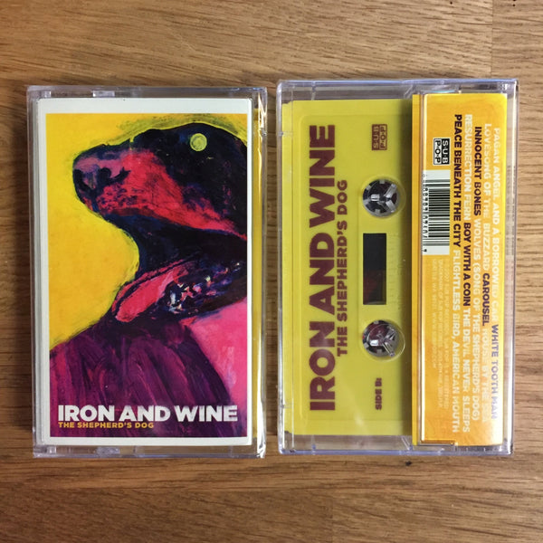 Iron & Wine ‎– The Shepherd's Dog - New Cassette 2007 Sub Pop Yellow Tape - Indie Folk / Rock