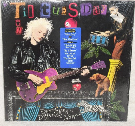 'Til Tuesday ‎– Everything's Different Now - VG+ Lp Record 1988 Epic USA Vinyl - Synth-Pop / Alternative Rock