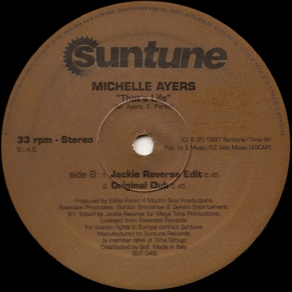 Michelle Ayers – That's Life - New 12