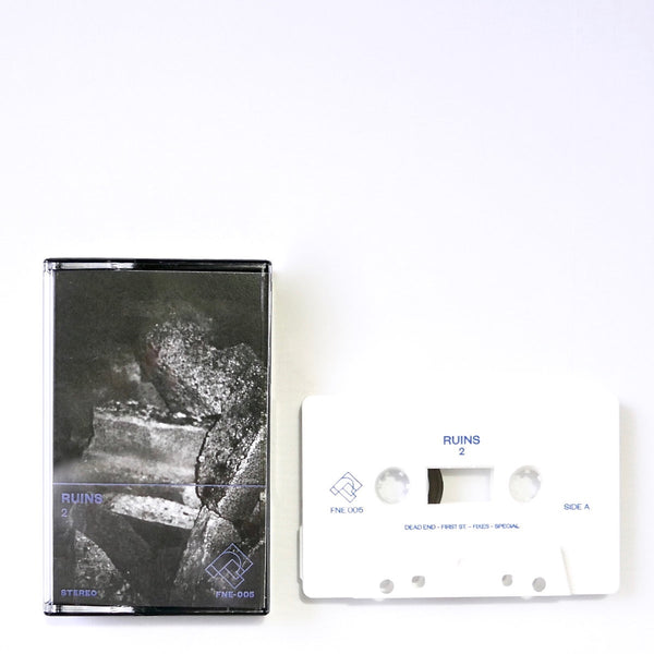 Ruins - 2 - New Cassette 2018 Fine Prints Limited Edition White Tape - Chicago, IL Bedroom Pop