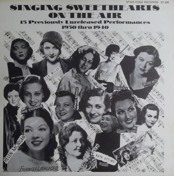 Various ‎– Singing Sweethearts On The Air: 15 previously unreleased performances 1930 thru 1940 - Mint (Sealed) Lp Record USA Original Vinyl - Pop