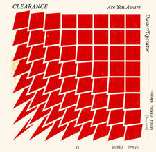"Clearance - Are You Aware? - New Vinyl 2016 Tall Pat Records 7"" + Download (including bonus tracks!) - Chicago, IL Post-Punk / Garage"