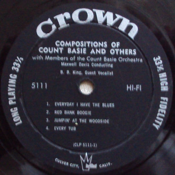 The Count Basie Orchestra - Compositions Of Count Basie And Others - VG+ 1959 Mono USA (NO ORIGINAL COVER) USA - Jazz