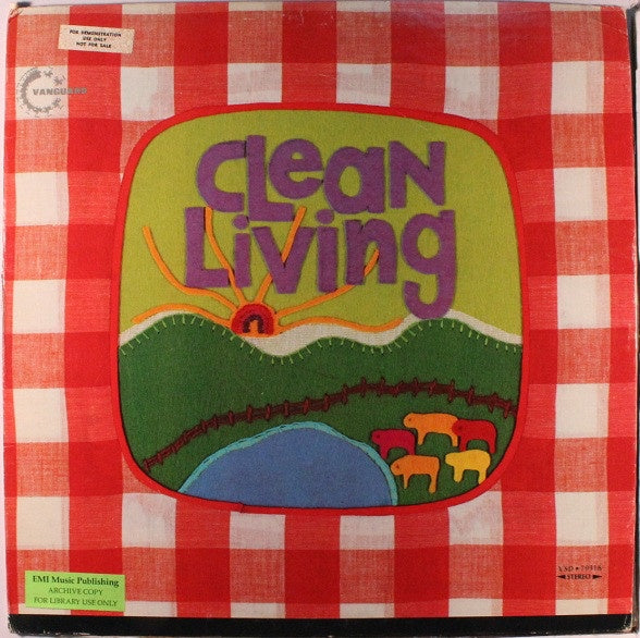 Clean Living ‎– Clean Living - VG+ Lp Record 1972 USA (White Label Promo) Original Vinyl - Rock / Country Rock