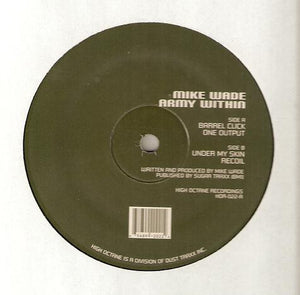 "Mike Wade - Army Within EP Mint- - 12"" Single 2000 High Octane USA HOR022 - Chicago Techno"