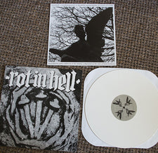 Rot In Hell / Psywarfare ‎– Split - New Vinyl 2013 USA Limited Edition White Vinyl & Download -  Noise / Power Electronics / Neofolk