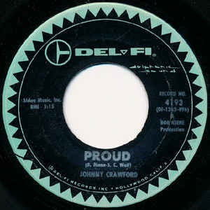 "Johnny Crawford - Proud / Lonesome Town VG+ 7"" Single 45 Record 1963 USA - Rock / Pop"
