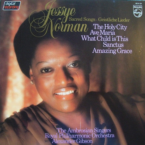 Jessye Norman / The Ambrosian Singers / Royal Philharmonic Orchestra / Alexander Gibson - Sacred Songs - Geistliche Lieder - New Vinyl Record 1981 (Holland Import)