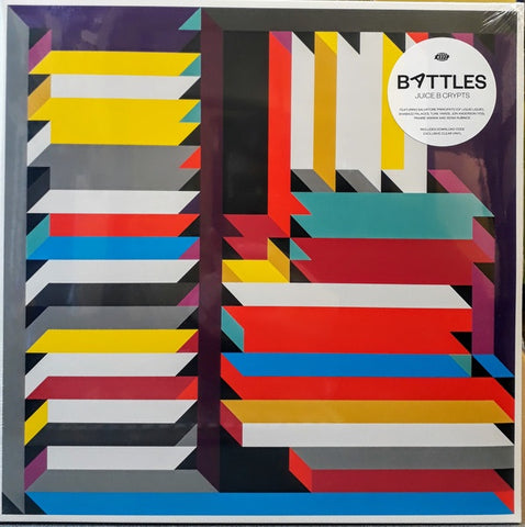 Battles ‎– Juice B Crypts - New 2 LP Record 2019 Warp Exclusive Limited Edition Clear Vinyl EU Import with Download - Experimental / Post Rock / Electronic