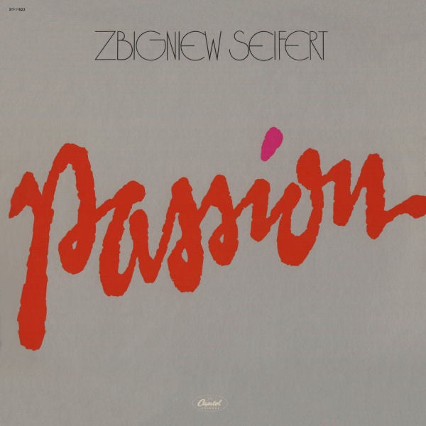 Zbigniew Seifert ‎– Passion - Mint- Lp Record 1979 USA Original Vinyl - Jazz