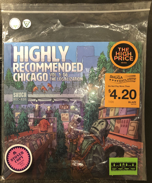 Various - Highly Recommended Chicago Vol. 1 G6 The Legalization - New Lp Record 2020 Shuga Records Exclusive Green Smellin' Terp Vinyl - Stoner Rock / Doom Metal /  Indie / Electronic / Disco