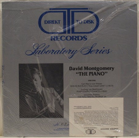 David Montgomery – The Piano - Mint- Lp Record 1977 USA Original Vinyl - Classical