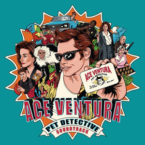 Various / Soundtrack – Ace Ventura: Pet Detective (Original Motion Picture) - New Vinyl 2017 Enjoy The Ride Records Pressing on Blue Vinyl with Gatefold Jacket and Trading Card (Limited to 500!) - 90's Soundtrack