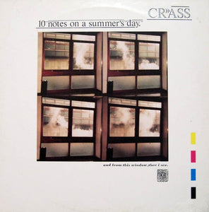 "Crass ‎– 10 Notes On A Summer's Day (1986) - New 12"" Single Record 2019 Remastered Reissue - Punk / Electronic"